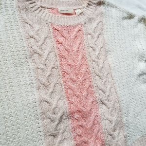 Anthropologie Sweaters - Sleeping On Snow Cabled Knit Elbow Patch Sweater M